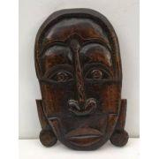 Arte Africana Grande Escultura Em Madeira Antiga 42cm Altura