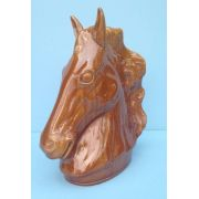 Cabeça De Cavalo Em Louça 36cm De Altura