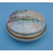 Antiga Caixinha Porcelana Desenho Passaro Belissima