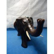 Linda Escultura Elefante Em Madeira