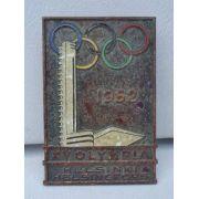 Raro Broche Medalha Xv Olimpiada Helsinki Helsingfors 1952