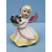 Antigo Bibelo Anjo Em Biscuit