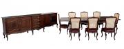 Antiga Mesa De Jantar Com 8 Cadeiras Jacaranda Luis Xv E Buffet