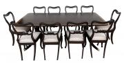 Antiga Mesa De Jantar Inglesa Com 10 Cadeiras