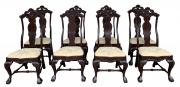 Antigo Conjunto 8 Cadeiras Dom Jose Madeira Nobre