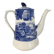 Bule De Cafe Em Porcelana Antiga Inglesa Fazendinha