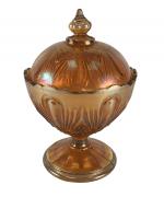 Compoteira Antiga Fogo Carnival Glass Lagrima