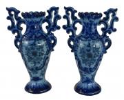 Par De Vaso Anfora Portuguesa Ceramica Antiga Alcobaça