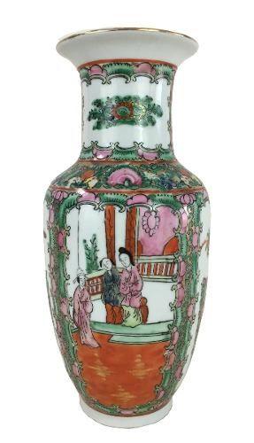 Vaso Porcelana Chinesa Padrao Mandarim