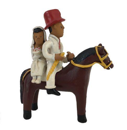 Mestre Manuel Eudocio Escultura Noivos A Cavalo