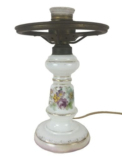 Antigo Abajur Luminaria Em Opalina
