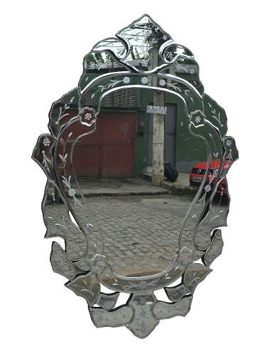 Espelho Vintage Veneziano Grande Bisotado