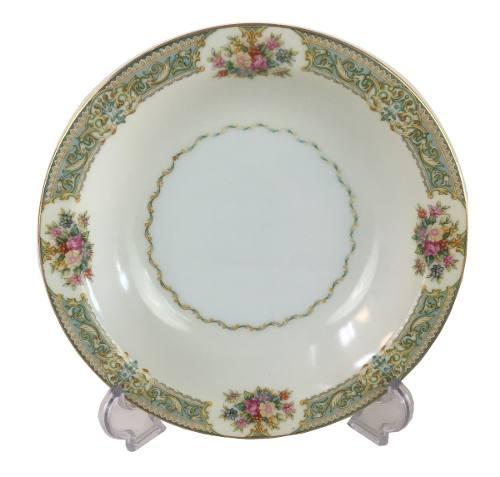 Prato Antigo Fundo Porcelana Japonesa Detalhes Flores