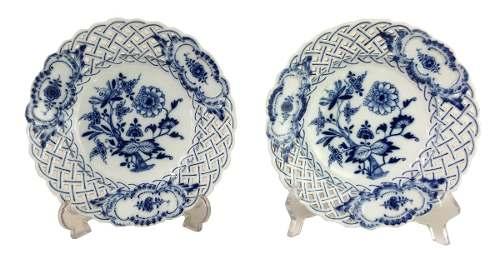 Espetacular Par De Pratos Porcelana Meissen Alemao Perfeitos
