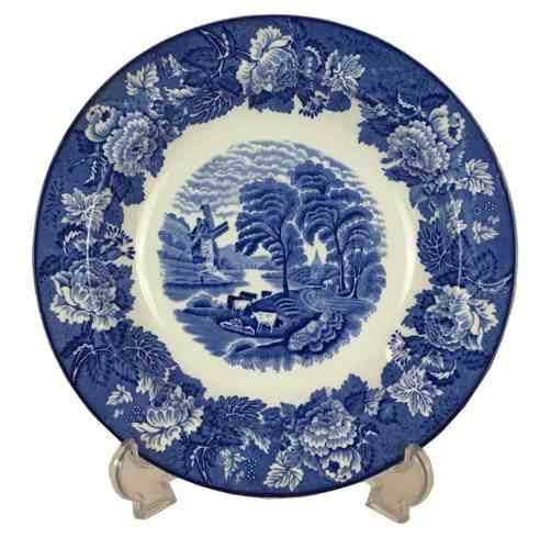 Antigo Prato Fundo Fazendinha Porcelana Inglesa Woods Ware