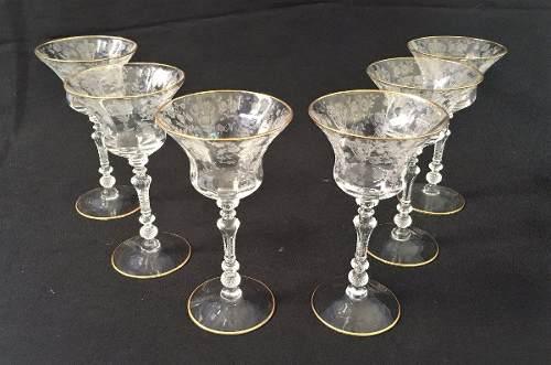 Lindo Conjunto De Taças Cristal Saint Louis Antigo