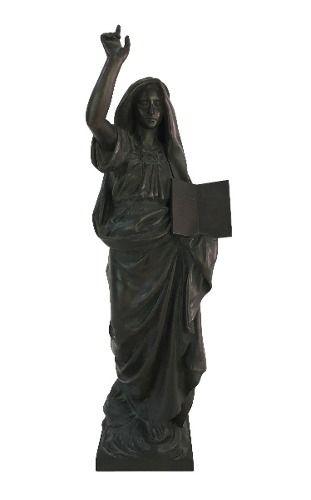 Antiga Escultura Em Bronze Francesa Assinada Vaureal