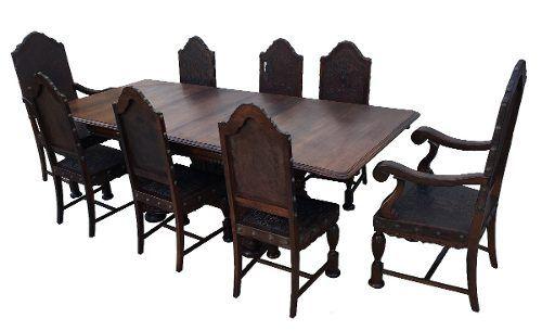Antiga Mesa De Jantar Extensora 8 Cadeiras Jacaranda