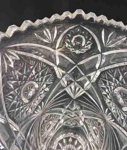 Belo Vaso Cristal Lapidado 31cm Perfeito