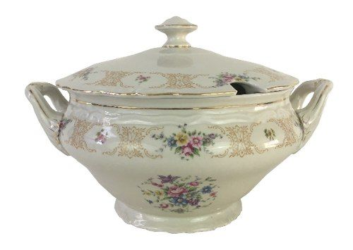 Antiga Sopeira Grande Porcelana Epiag Tchecoslovakia