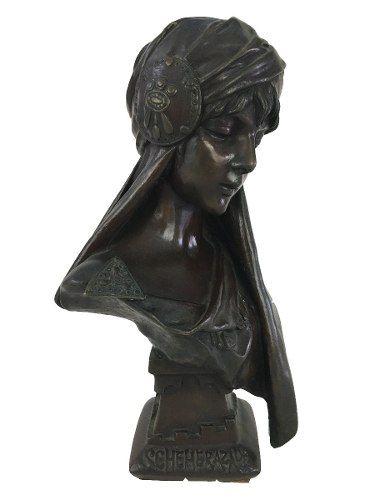 Escultura Antiga Bronze Francesa E. Villanis Assinada