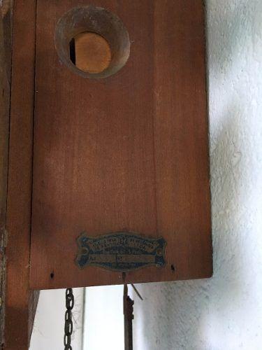 Antigo Relogio De Parede Cuco H Modelo 111