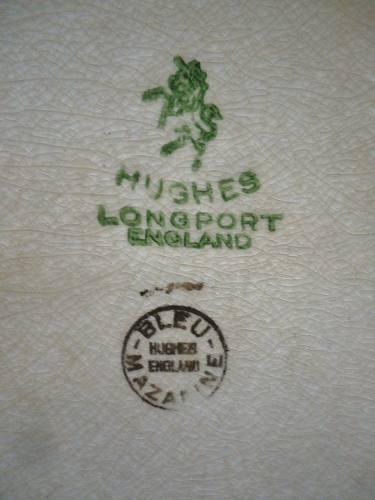 Antiga Travessa Em Faiança Hughes Longport England