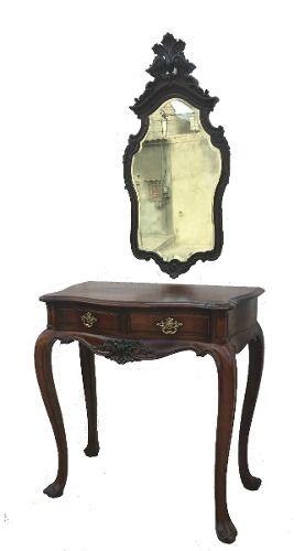 Aparador Luis Xv Antigo Espelho Jacaranda Maciço Entalhado