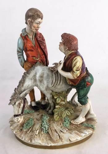 Antigo Grupo Escultorico Porcelana Alemã Assinado