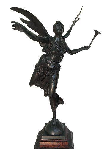 Escultura Francesa Georges Bareau Em Bronze Assinada