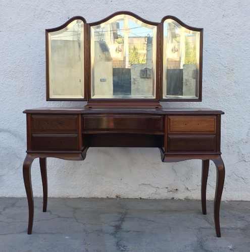 Antiga Penteadeira Chipandelle Maciça 3 Espelhos Restaurada