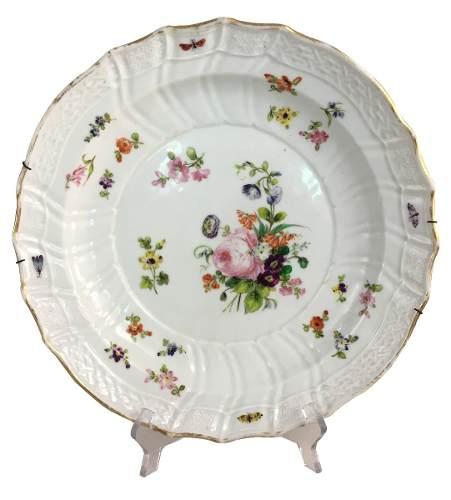 Antigo Prato Grande Porcelana Alema 31cm