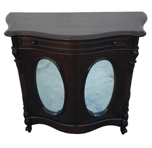 Antiga Comoda Dunquerque Madeira Nobre Portas Espelhadas
