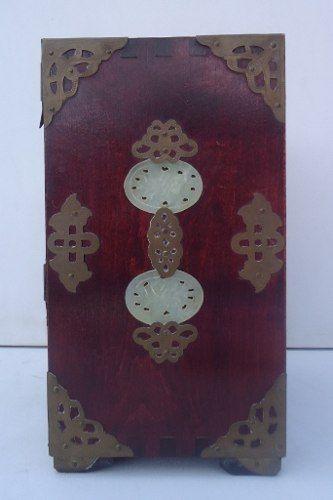 Antiga Caixa Porta Jóias Oriental Belissima