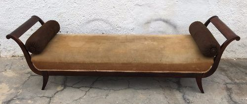 Magnifico Sofa Recamier Em Jacaranda Maciço Antigo