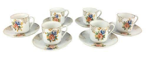 Conjunto Xicaras De Cafe Porcelana Antiga Japonesa