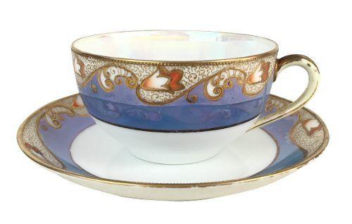 Xicara De Cha Porcelana Antiga Japonesa Noritake Belissima
