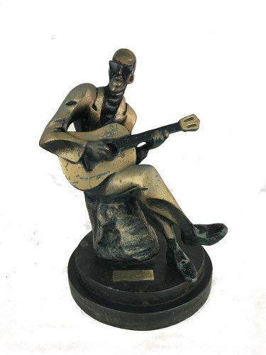 Magnifica Escultura Otto Dumovich Cartola Bronze