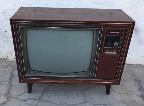 Antiga Tv Televisao Sylvania Gabinete Jacaranda