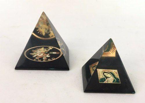 Piramides Em Acrilico Mexicanas Peso Para Papel