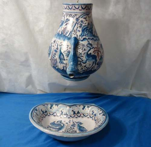 Antiga Fonte Decorativa Ceramica Portuguesa