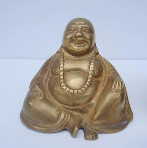 Antigo Par De Deuses Orientais - Budas Em Bronze