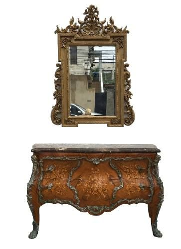 Espelho Estilo Classico Europeu Bisotado