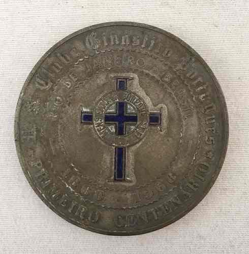 Antiga Medalha Clube Ginasio Portugues 1º Centenario 60mm