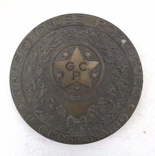 Antiga Medalha Ginasio Clube Portugues 1º Centenario 80mm