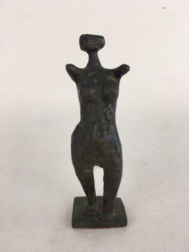 Francisco Stockinger Guerreira Em Bronze Assinada