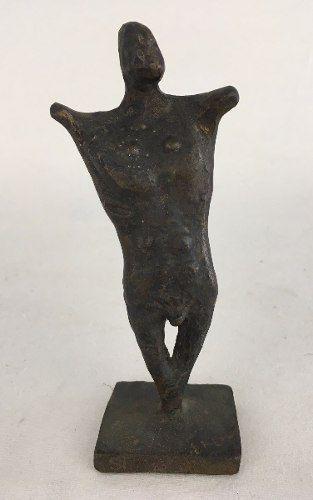 Francisco Stockinger Escultura Assinada Guerreiro Em Bronze