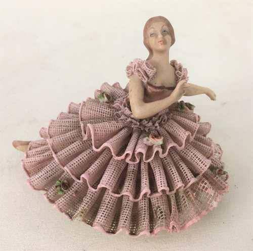 Antiga Escultura Bailarina Porcelana Rebis