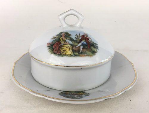 Peças Conjunto Chá Porcelana Real Cena Galante
