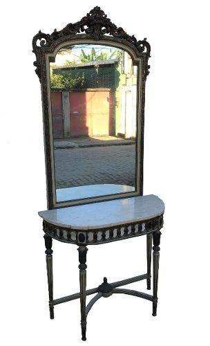 Espetacular Conjunto Aparador E Espelho Luis Xvi Antigo